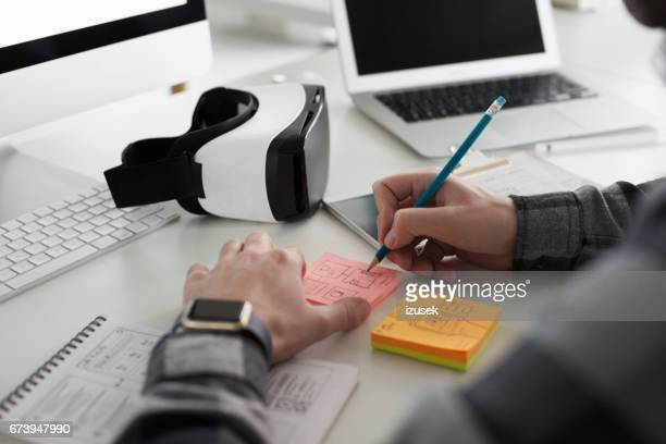 Computer programmer working in an office