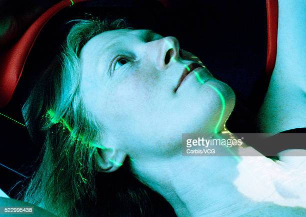 Computer Scanning Woman's Face