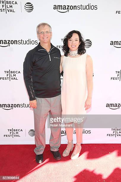 """Computer scientist Alan Eustace and Kathy Eustace attend """"14 Minutes from Earth"""" Premiere - 2016 Tribeca Film Festival at SVA Theatre 2 on April 20,..."""