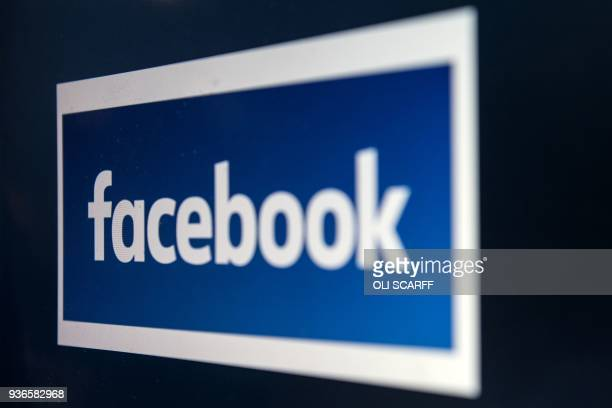 A computer screen displays the logo of the social networking site Facebook taken in Manchester England on March 22 2018 A public apology by Facebook...