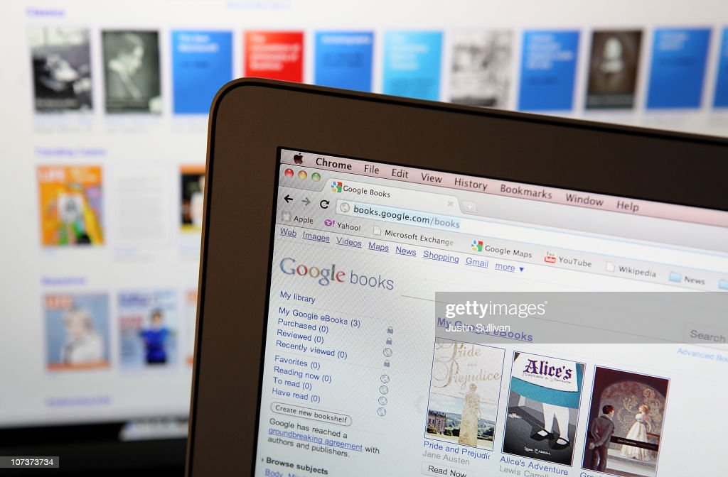 A computer screen displays the newly launched Google eBooks online bookstore on December 7, 2010 in San Anselmo, California. Google's much anticipated Internet bookstore launched Monday in the U.S. and features a portion of the 15 million printed books that Google has scanned into its digital archive along with new releases from nearly 4,000 publishers.