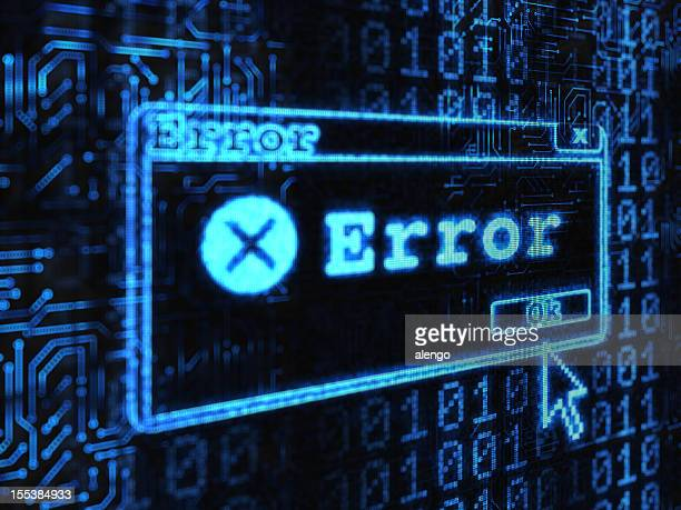 computer showing an error message - error message stock pictures, royalty-free photos & images