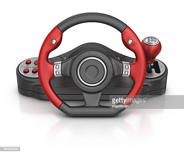 computer steering wheel - steering wheel stock pictures, royalty-free photos & images