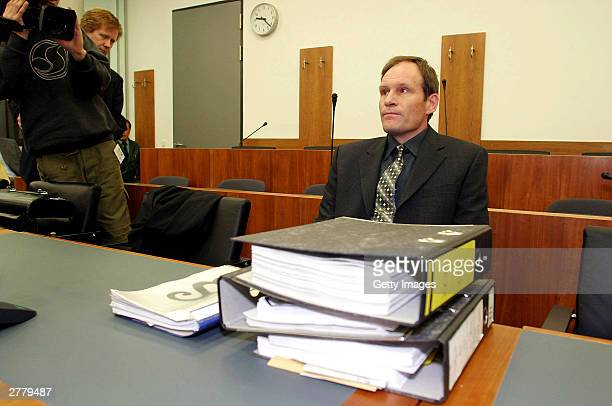 Computer technician Armin Meiwes aged 42 is seen at the prelude to Germany's first cannabalism trial held before the regional court in Kassel on...