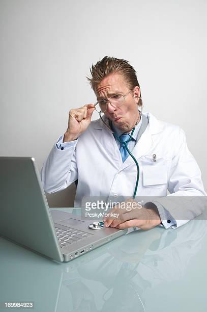 Computer Technician Makes a Laptop Diagnosis