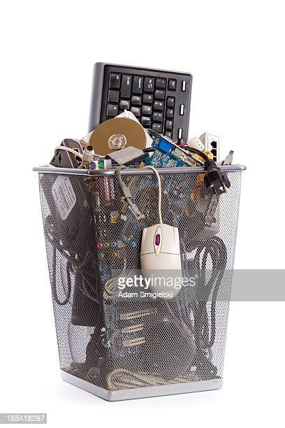 computer trash bin - full stock pictures, royalty-free photos & images