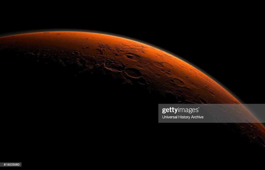 Computer-generated views of Mars and the Gale Crater. : News Photo