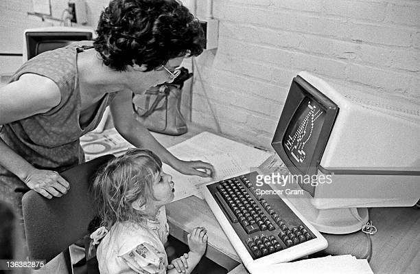 Computerized research at Tufts' EliotPearson Child study center Medford Massachusetts mid 1970s