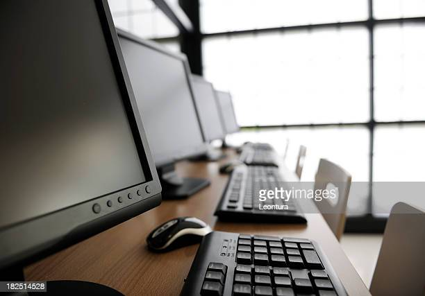 computers - internet cafe stock pictures, royalty-free photos & images