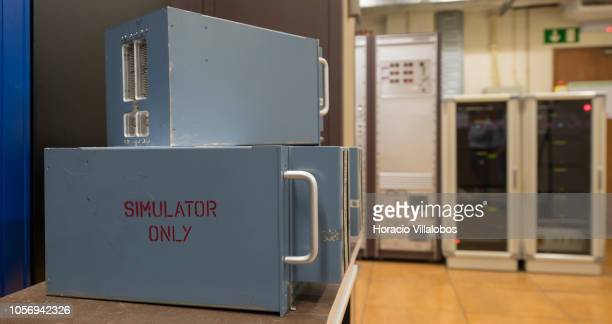 Computers room for TAP flight simulators at TAP Air Portugal training center in Lisbon International Airport on October 19 2018 in Lisbon Portugal...