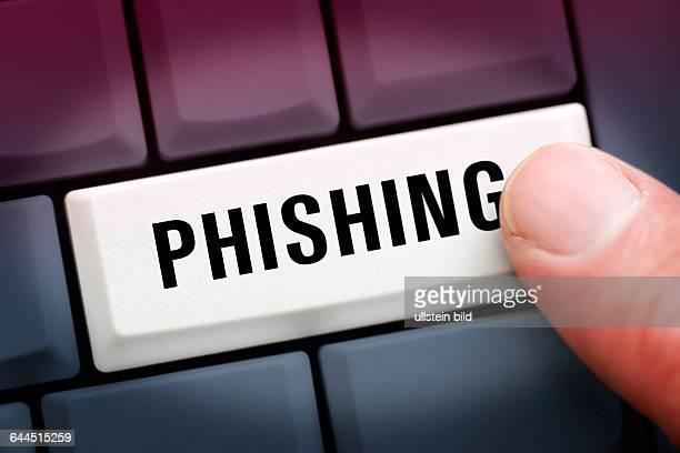 Computertaste mit der Aufschrift Phishing