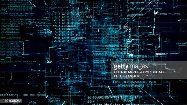 computing programming, conceptual illustration - computer language stock pictures, royalty-free photos & images