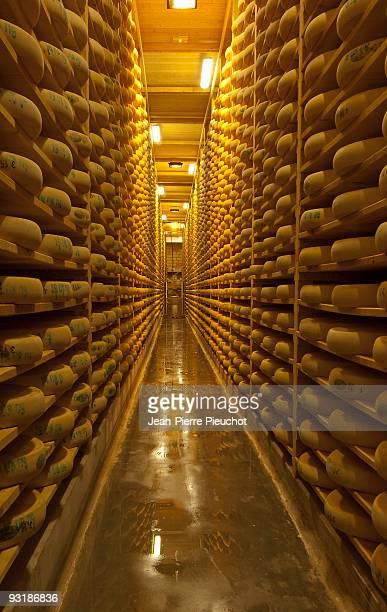 Comté cheese maturation cellar Jura France