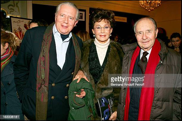 Comte and Comtesse De Ribes and their child Jean at the Paris Premiere Of Matthew Bourne's Swan Lake At Theatre Mogador
