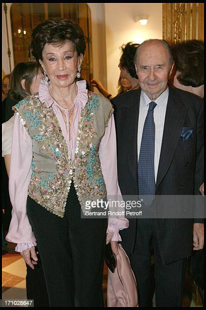 Comte and Comtesse Edouard De Ribes at Dinner Held In Honour Of Princesse De Beauvau Craon The Presidente In Honour Of Sotheby's In France At The...