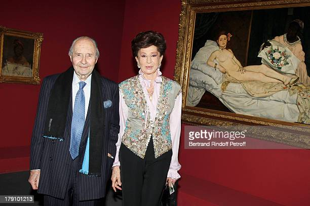 Comte and Comtesse Edouard De Ribes at The Private View Of The Exhibition Manet Inventor Of The Modern At Musee D'Orsay To Fundraise For The Friends...