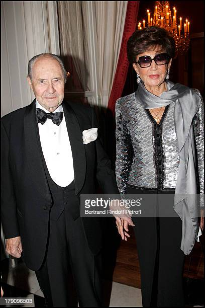 Comte and Comtesse Edouard De Ribes at The Traditional Christmas Dinner Held At The British Embassy In Paris