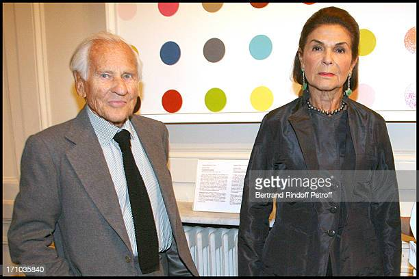 Comte and Comtesse Jean D' Ormesson at Au Coeur De L' Ecosse Book Signing By Stephane Bern And Franck Ferrand At the British Embassy In Paris