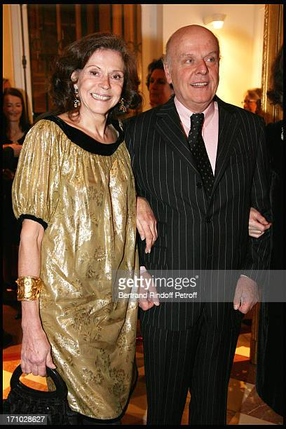 Comte and Comtesse Jean De Rohan Chabot at Dinner Held In Honour Of Princesse De Beauvau Craon, The Presidente In Honour Of Sotheby's In France, At...