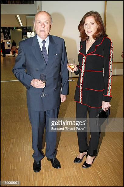 Comte and Comtesse Jean De Rohan Chabot at The Gala Dinner For The Society Of Friends Of The National Museum Of Modern Art Held At The Pompidou...