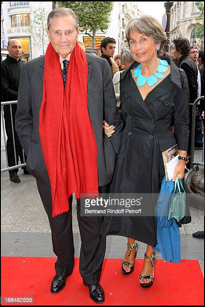 Comte Countess Hubert D' Ornano at Premiere Of Film 'Faubourg 36' At Ugc Normandie In Benefit Of Claude Pompidou Foundation