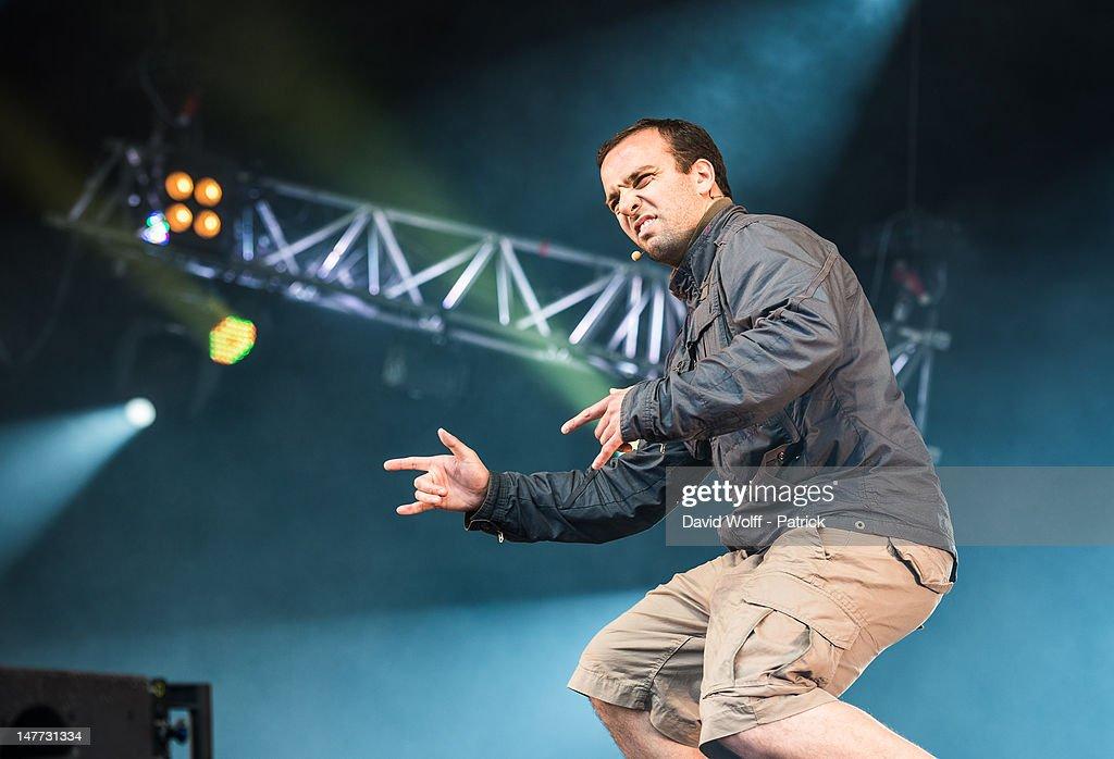 Comte de Bouderbala performs at Eurockeennes Music Festival on July 1, 2012 in Belfort, France.
