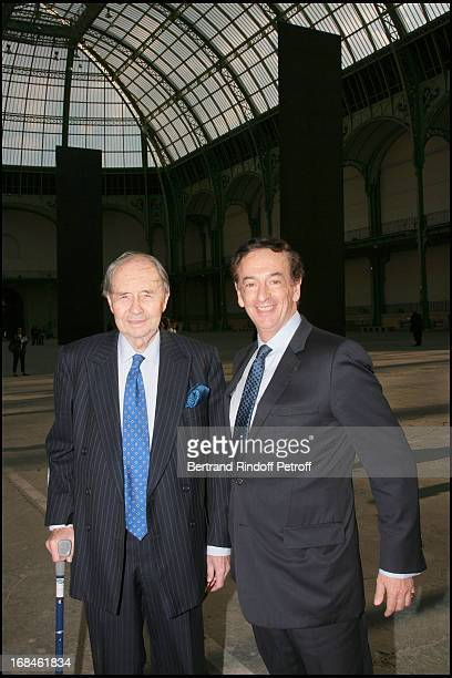 Comte Edouard De Ribes and Jean Paul Claverie at Private Viewing Of The Richard Serra Exhibition Promenade Monumeta 2008 At Grand Palais