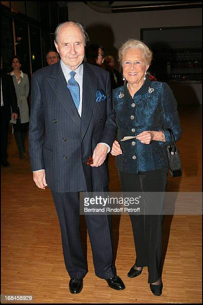 Comte Edouard De Ribes and Madame Serge Dassault at Gala Evening Societe Des Amis Du Musee National D'Art Moderne At The Centre Pompidou In Paris