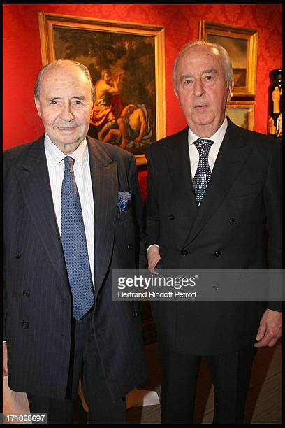 Comte Edouard De Ribes Edouard Balladur at Dinner Held In Honour Of Princesse De Beauvau Craon The Presidente In Honour Of Sotheby's In France At The...