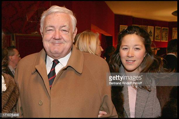 Comte Eric De Gourcuff and daughter Diane De Gourcuf at The Paris Production Of The Show Une Comedie Romantique At The Theatre Montparnasse In Aid Of...