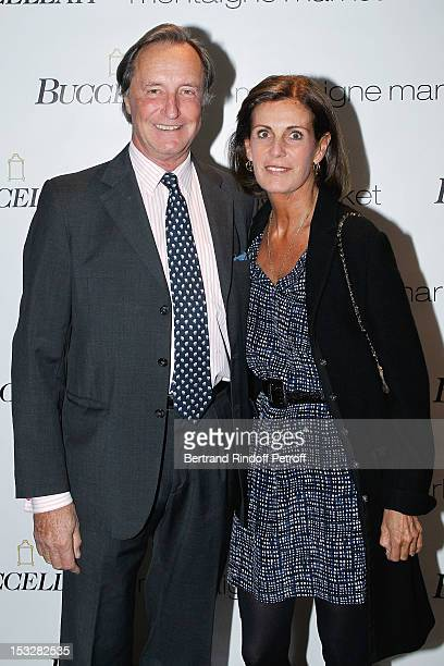 Comte Francois de la Beraudiere and his wife Comtesse Francois de la Beraudiere attend the Buccellati Blossom Butterfly and Daisy new collection...