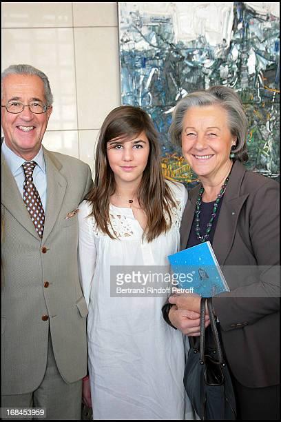 Comte Guy and Comtesse Marina De Brantes and granddaughter Pandora Sabouret at L' Arop Gala Evening Reve D' Enfants With Featuring Casse Noisette At...