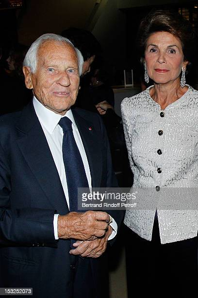 Comte Jean d'Ormesson and Comtesse Jean d'Ormesson attend the Foundation Martine Aublet Gala Dinner at Musee du Quai Branly on October 1 2012 in...