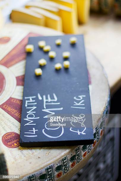 Comte with a price label