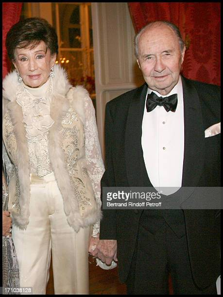 Comtesse and Comte Edouard De Ribes at The Traditional Christmas Dinner At The British Embassy In Paris