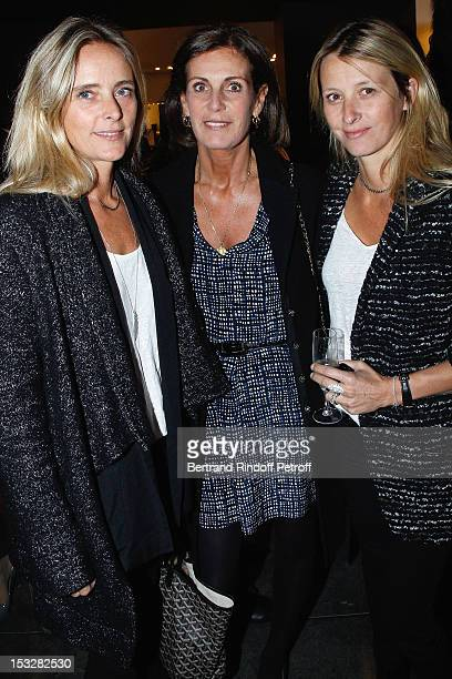 Comtesse Francois de la Beraudiere and her cousins Marie Poniatowski and Sarah Poniatowski Lavoine attend the Buccellati Blossom Butterfly and Daisy...