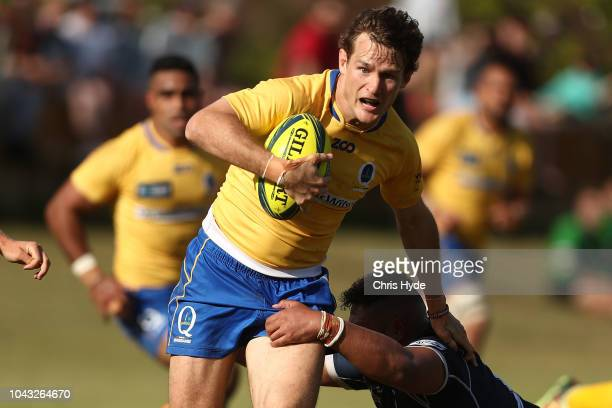 Con Foley of City makes a break during the round five NRC match between Brisbane City and Queensland Country at Wests Rugby Club on September 30 2018...