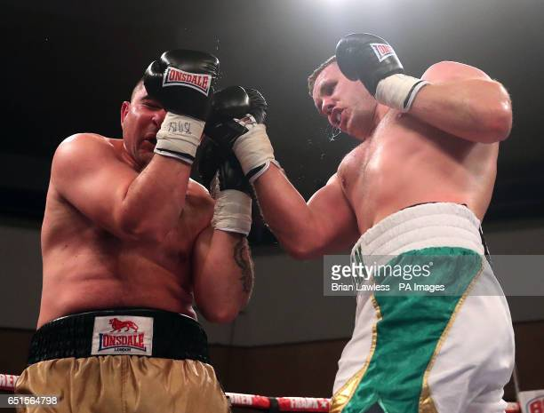 Con Sheehan and Ferenc Zsalek during the International Heavyweight Championship at Belfast Waterfront