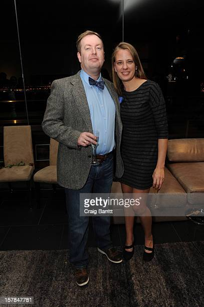 Conal Duffy and Amanda Bowers attend the Worldview Entertainment 2012 Holiday Party at William Beaver House on December 6 2012 in New York City