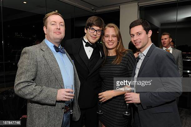 Conal Duffy Matteo Brunetta Amanda Bowers and Ethan Lazar attend the Worldview Entertainment 2012 Holiday Party at William Beaver House on December 6...