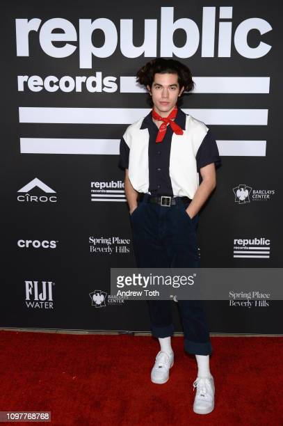 Conan Gray attends Republic Records Grammy after party at Spring Place Beverly Hills on February 10 2019 in Beverly Hills California