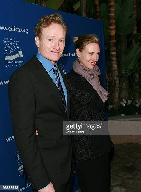 Conan O'Brien and Elizabeth Ann Powel arrive at the Children's Defense Fund 19th Annual Beat the Odds Awards at the Beverly Hills Hotel on December 3...
