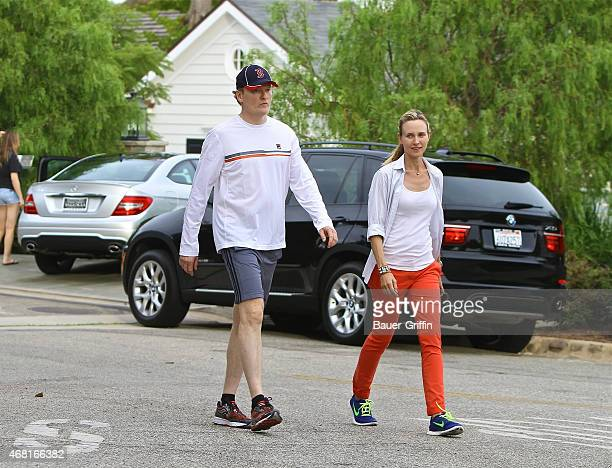 Conan O'Brien and his wife Liza Powel are seen on September 22 2012 in Los Angeles California