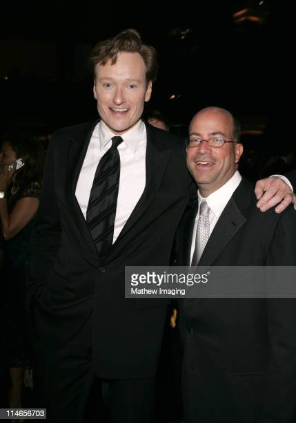 Conan O'Brien and Jeff Zucker during 57th Annual Primetime Emmy Awards Governors Ball at The Shrine in Los Angeles California United States