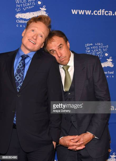 Conan O'Brien and Kevin Nealon attend the Children's Defense FundCalifornia's 27th Annual Beat The Odds Awards at the Beverly Wilshire Four Seasons...