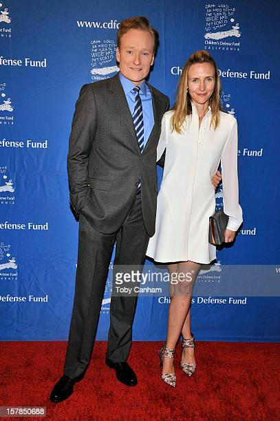 Conan O'Brien and Liza Powel arrive for the Children's Defense FundCalifornia 22nd Annual Beat the Odds Awards at Beverly Hills Hotel on December 6...