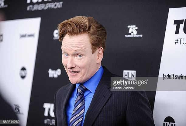 Conan O'Brien attends the 2016 Turner Upfront at Nick Stef's Steakhouse on May 18 2016 in New York New York