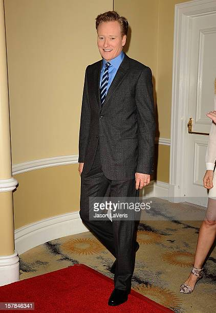 Conan O'Brien attends the Children's Defense Fund's 22nd annual Beat the Odds Awards at the Beverly Hills Hotel on December 6 2012 in Beverly Hills...