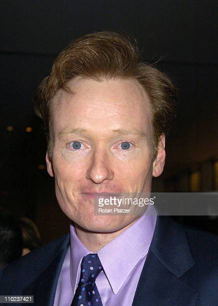 Conan O'Brien during NYC and Company Honors Leaders in Tourism at The Museum of Modern Art in New York City New York United States