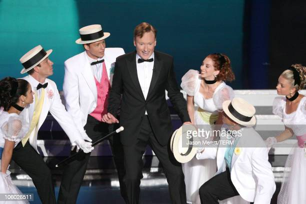 Conan O'Brien, host during 58th Annual Primetime Emmy Awards - Show - Balcony at The Shrine Auditorium in Los Angeles, California, United States.